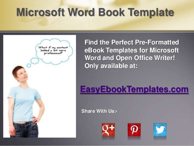 Microsoft Word Book Template Microsoft Word Book Template