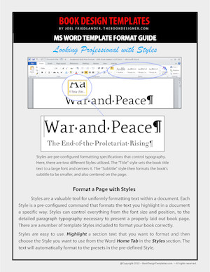 Microsoft Word Book Template Self Published Books Get A Major Overhaul with