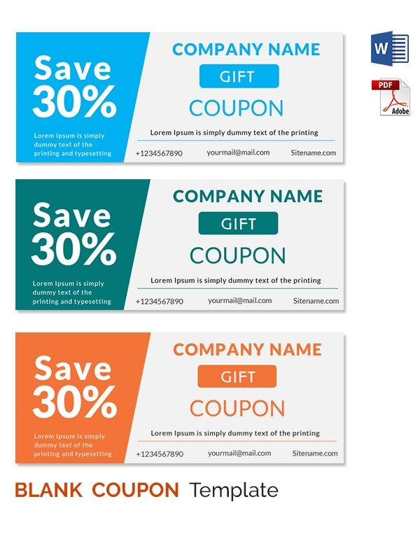 Blank Coupon Templates – 26 Free PSD Word EPS JPEG