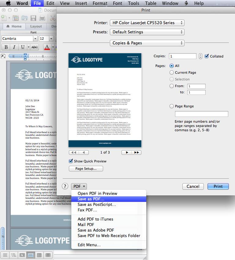 Microsoft Word Design Templates Convert Your Design Into A Microsoft Word Letterhead
