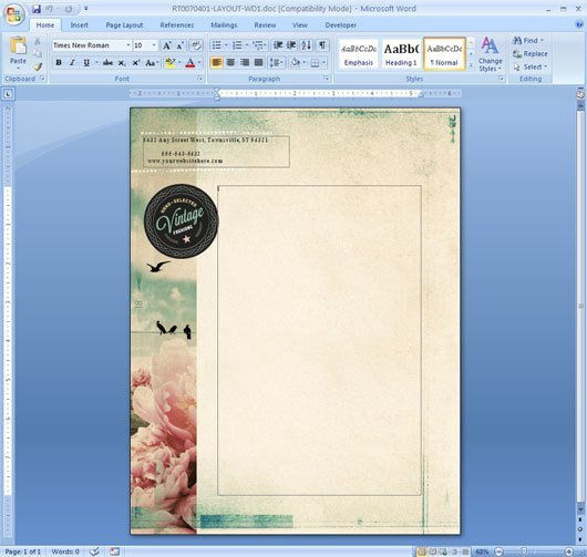 Microsoft Word Design Templates How to Repeat A Logo and Address On Each Page Of Your