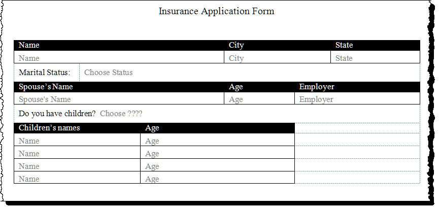 Microsoft Word forms Template Create A form Using Word Content Controls
