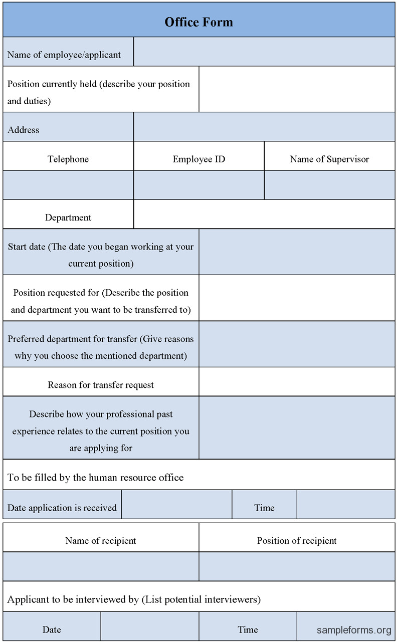 Microsoft Word forms Template Fice form Template Sample forms