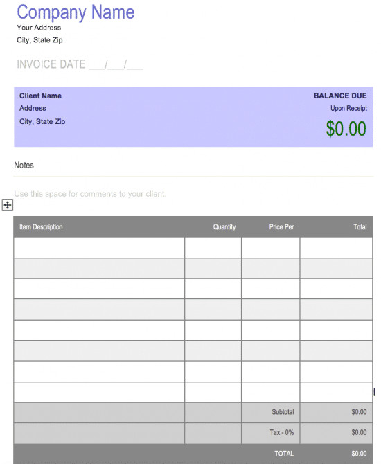 Microsoft Word forms Template Free Free Blank Invoice Templates In Microsoft Word Cx