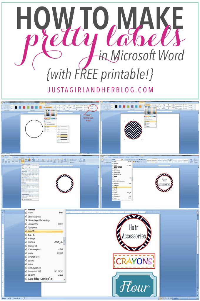 Microsoft Word Label Template How to Make Pretty Labels In Microsoft Word