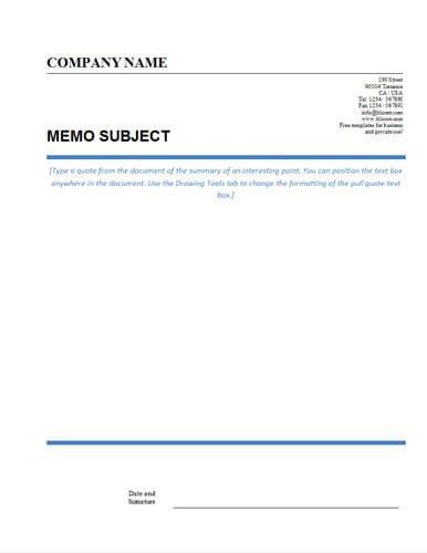 Microsoft Word Memo Templates Memo format [bonus 48 Memo Templates]