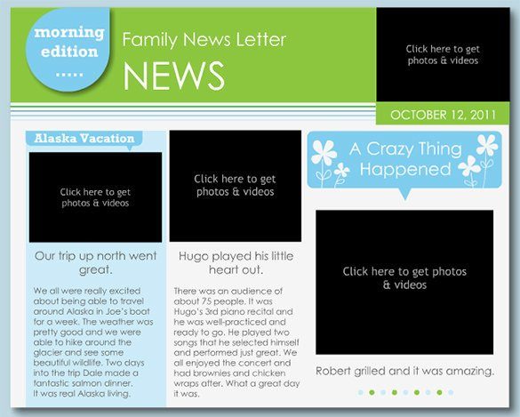 Microsoft Word Newsletter Templates Free 7 Family Newsletter Templates – Free Word Documents