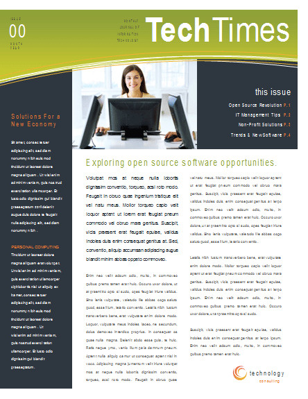 Microsoft Word Newsletter Templates Free Eco Business Newsletter Template
