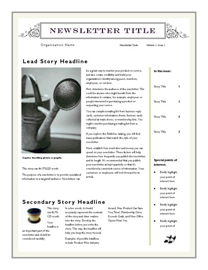 Microsoft Word Newsletter Templates Free Free Newsletter Template for Word 2007 and Later