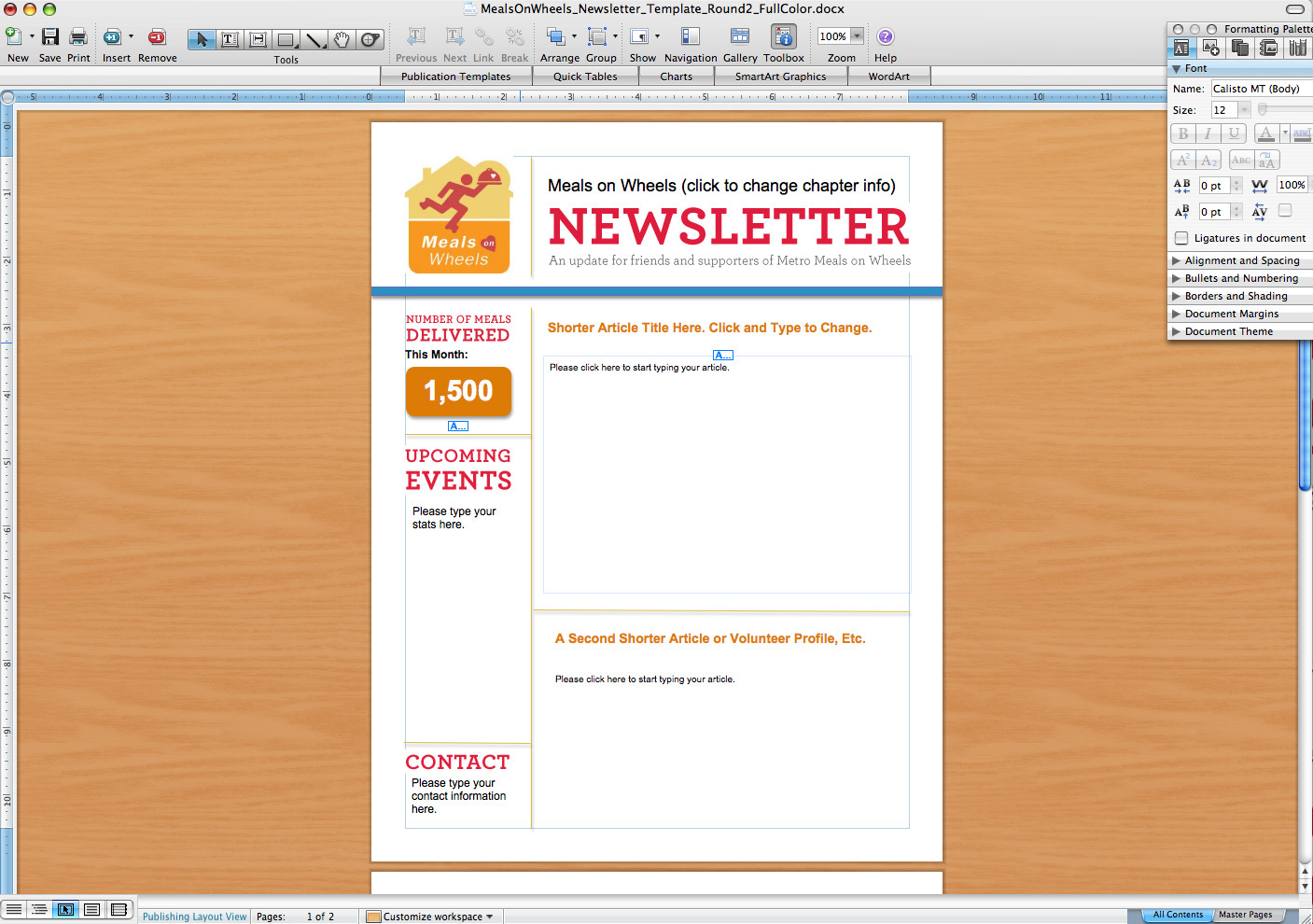 Microsoft Word Newsletter Templates Free Microsoft Word Newsletter Templates