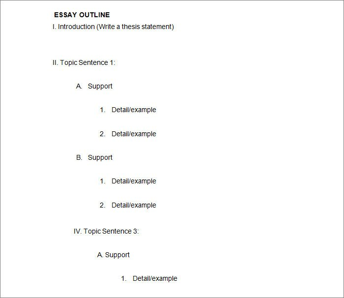 Microsoft Word Outline Template 21 Outline Templates Pdf Doc