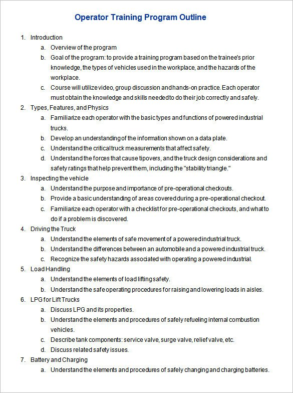Microsoft Word Outline Template Program Outline Template 7 Free Free Word Pdf format