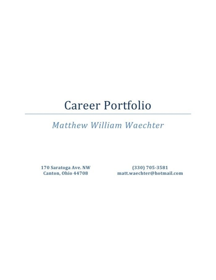Microsoft Word Portfolio Template Career Portfolio Template Microsoft Word Templates