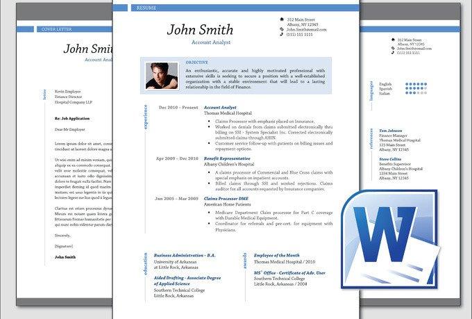 Microsoft Word Portfolio Template Design Clean Professional Resume Cv Template Word Fiverr