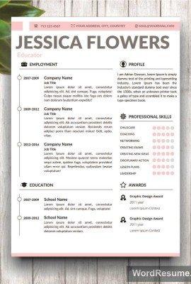 Microsoft Word Portfolio Template Home Creative Resume Templates