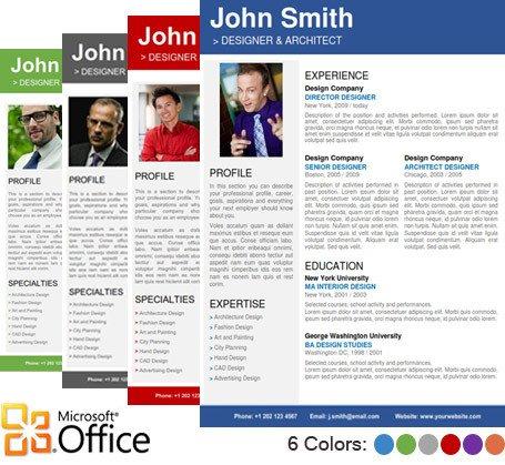 Microsoft Word Portfolio Template Professional Resume Template Cover Letter Portfolio