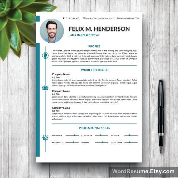 Microsoft Word Portfolio Template Resume Template Modern Cover Letter Portfolio Word Cv