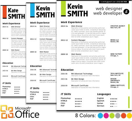 Microsoft Word Portfolio Template Web Designer Resume Template Trendy Resumes