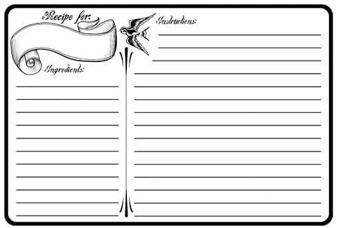 Microsoft Word Recipe Card Template 13 Recipe Card Templates Excel Pdf formats