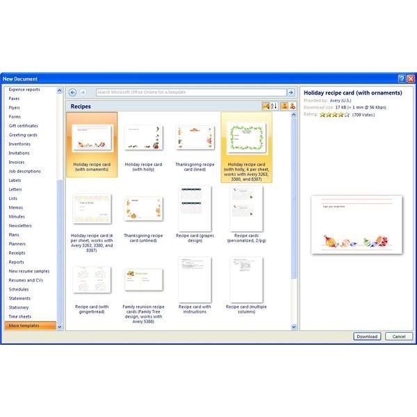 Microsoft Word Recipe Card Template Finding Microsoft Word Recipe Templates