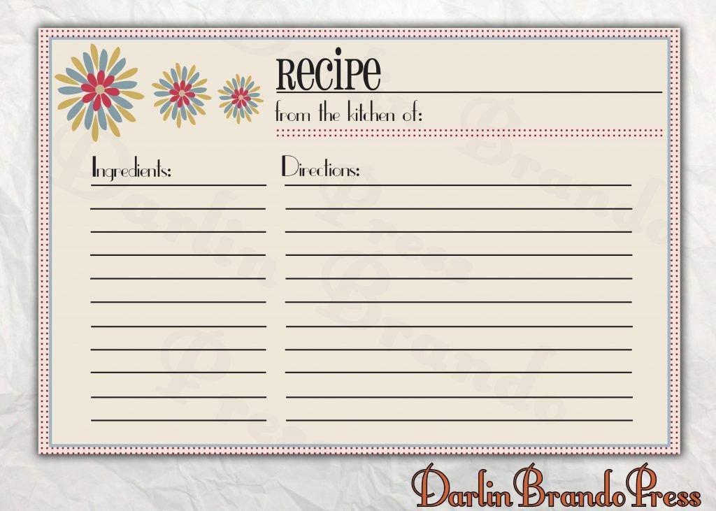Microsoft Word Recipe Card Template Free Editable Recipe Card Templates for Microsoft Word