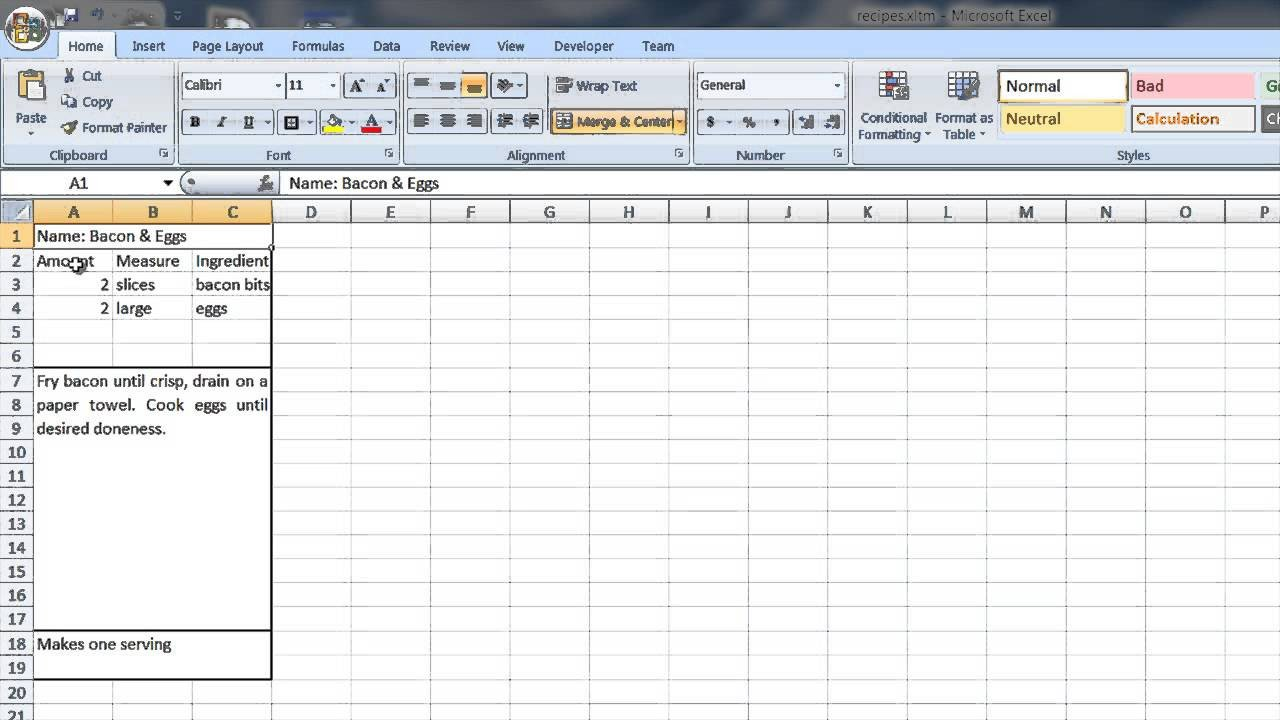Microsoft Word Recipe Card Template How to Create A Recipe Template In Word & Excel Puter