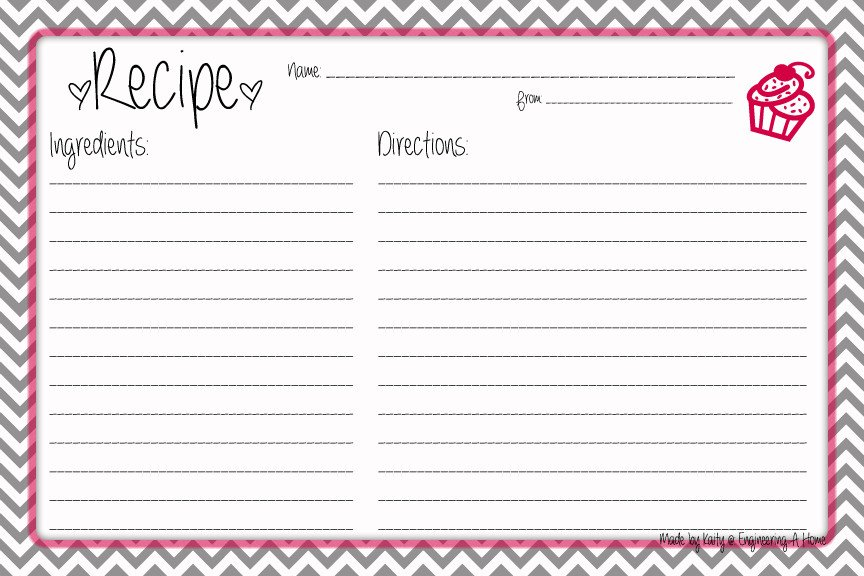 Microsoft Word Recipe Card Template Pretty Up that Recipe Box