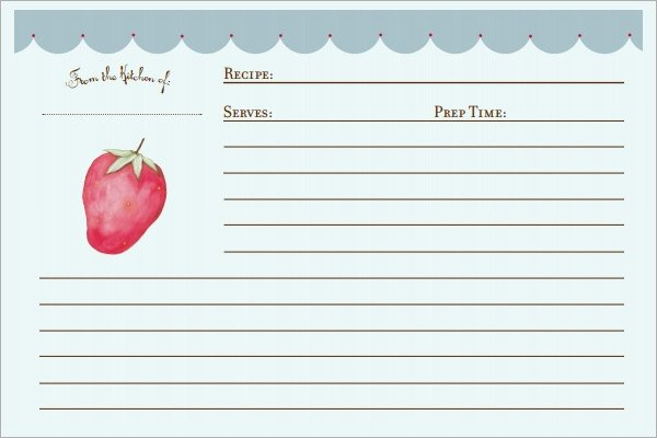 Microsoft Word Recipe Card Template Sample Recipe Card Template 6 Free Documents Download