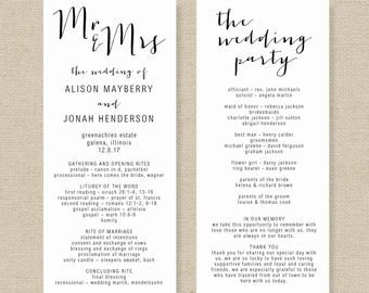 Microsoft Word Wedding Program Templates order Of Service