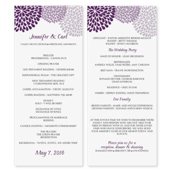 Microsoft Word Wedding Program Templates Wedding Program Template Download by Diyweddingtemplates
