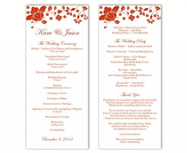 Microsoft Word Wedding Program Templates Wedding Program Template Ms Word Travelermanager