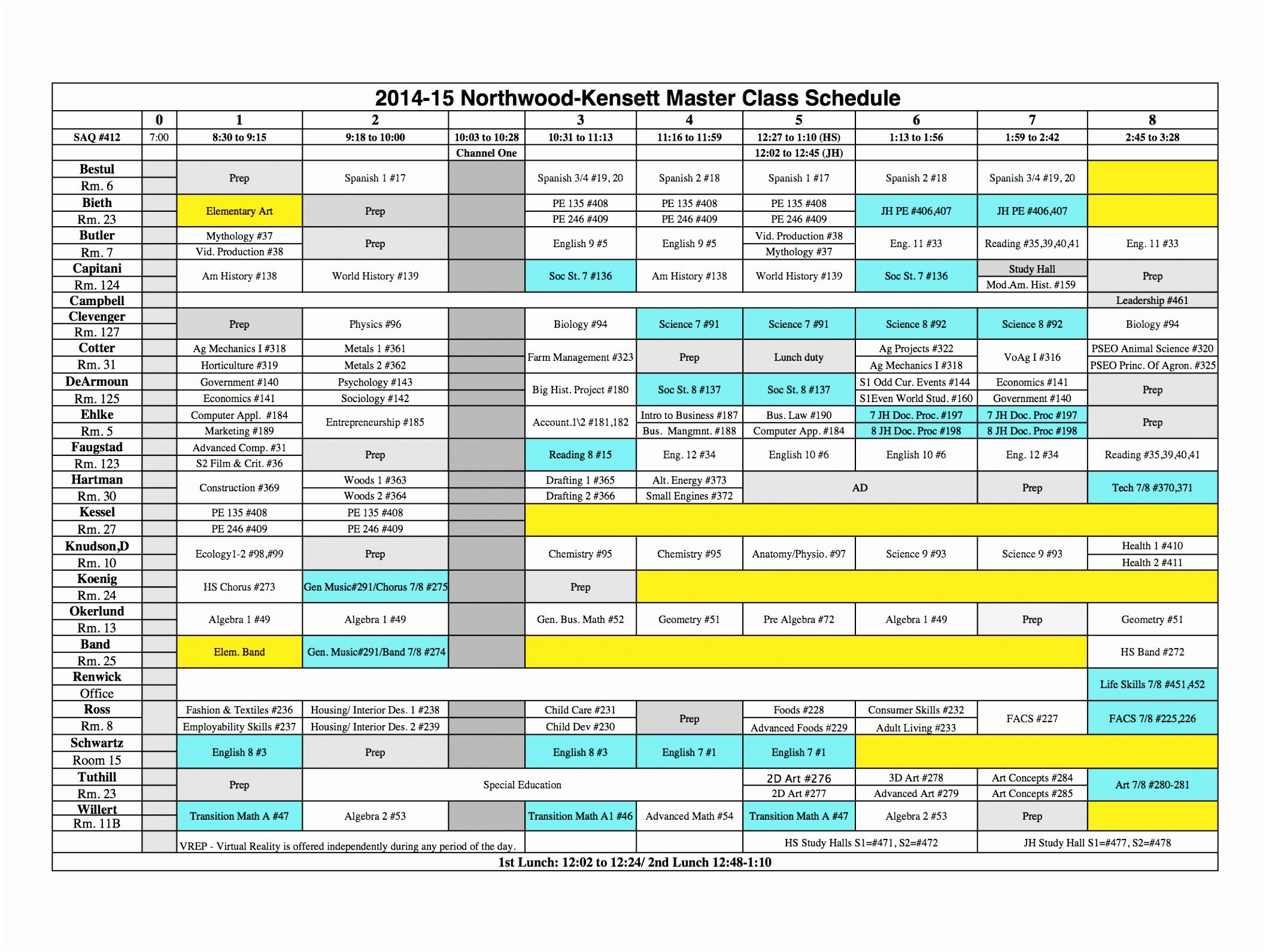 Middle School Schedule Template 5 Middle School Schedule Template Eiuyt