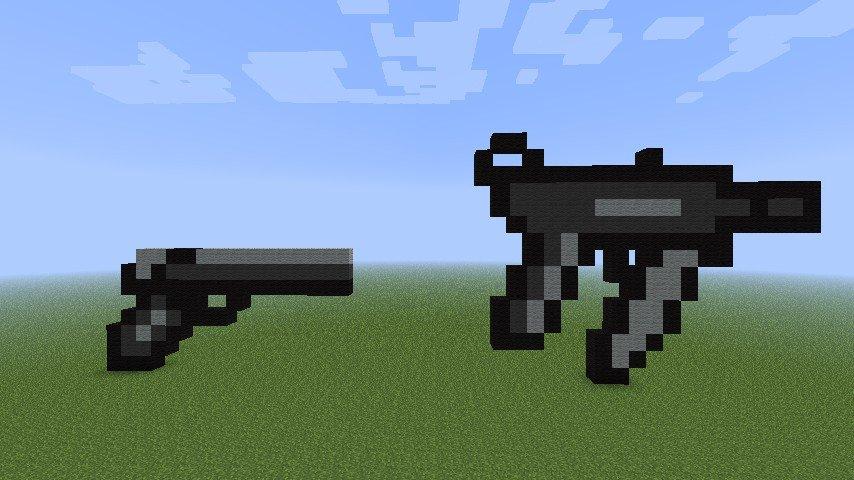 Minecraft Gun Pixel Art 2 Call Duty Guns Minecraft Project