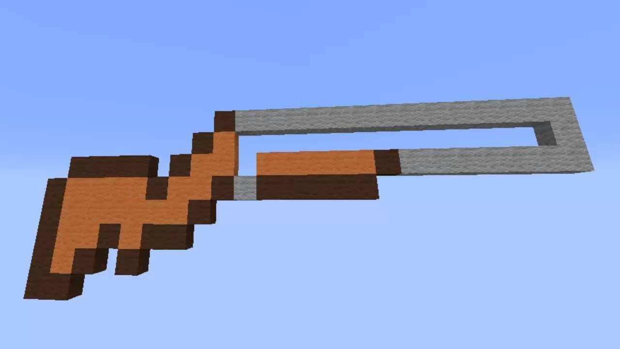 Minecraft Gun Pixel Art Minecraft I Pixel Art White Gun ¡primer Video