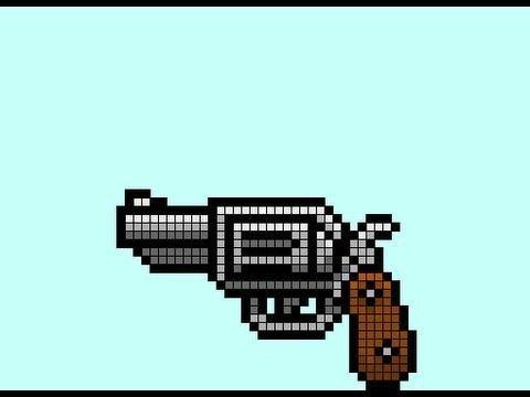 Minecraft Gun Pixel Art Pixel Art Gun Google Search Other Pinterest