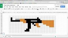 Minecraft Gun Pixel Art Shot Gun 1 Minecraft Pixel Art Templates