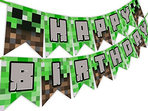 Minecraft Happy Birthday Images Amazon Grass Tablecover Party Accessory 1 Count