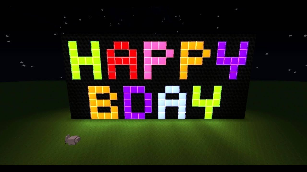 Minecraft Happy Birthday Images Happy Birthday A La Minecraft