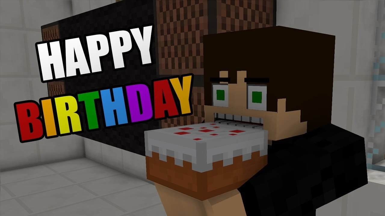 Minecraft Happy Birthday Images Happy Birthday Minecraft Animation