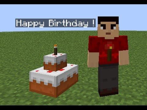 Minecraft Happy Birthday Images Minecraft Birthday Cake Tutorial