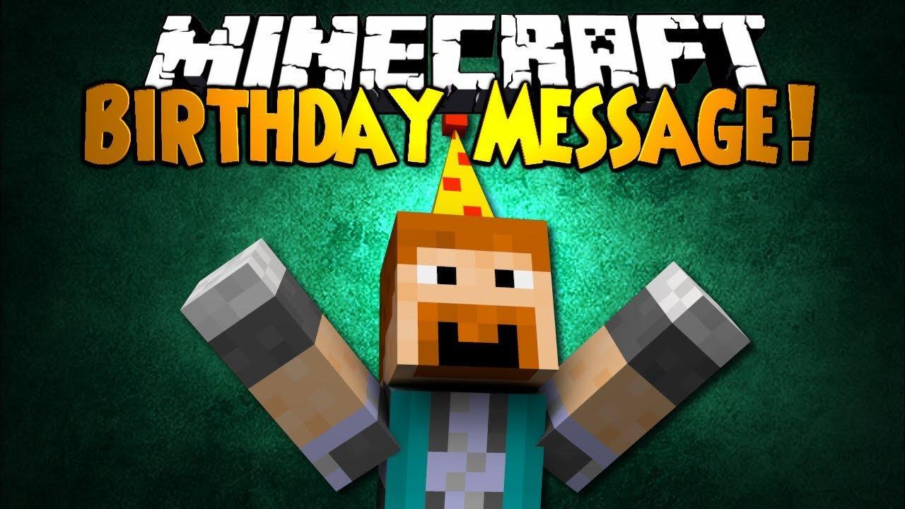 Minecraft Happy Birthday Images Minecraft Birthday Message