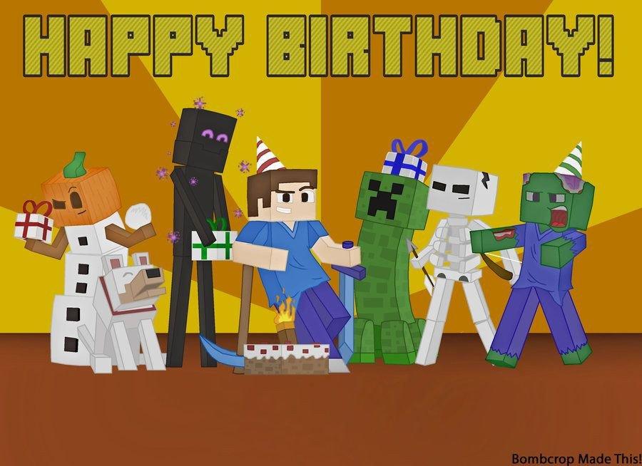 Minecraft Happy Birthday Images Minecraft Font Happy Birthday