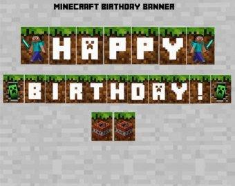Minecraft Happy Birthday Images Minecraft Happy Birthday Banner Cumple 2017