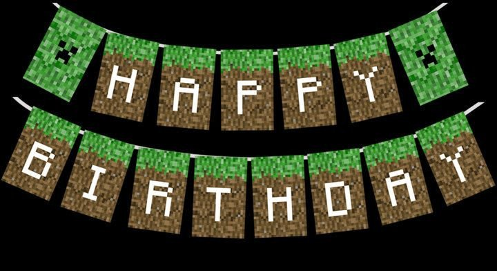 Minecraft Happy Birthday Images Minecraft Printable Happy Birthday Party Banner by