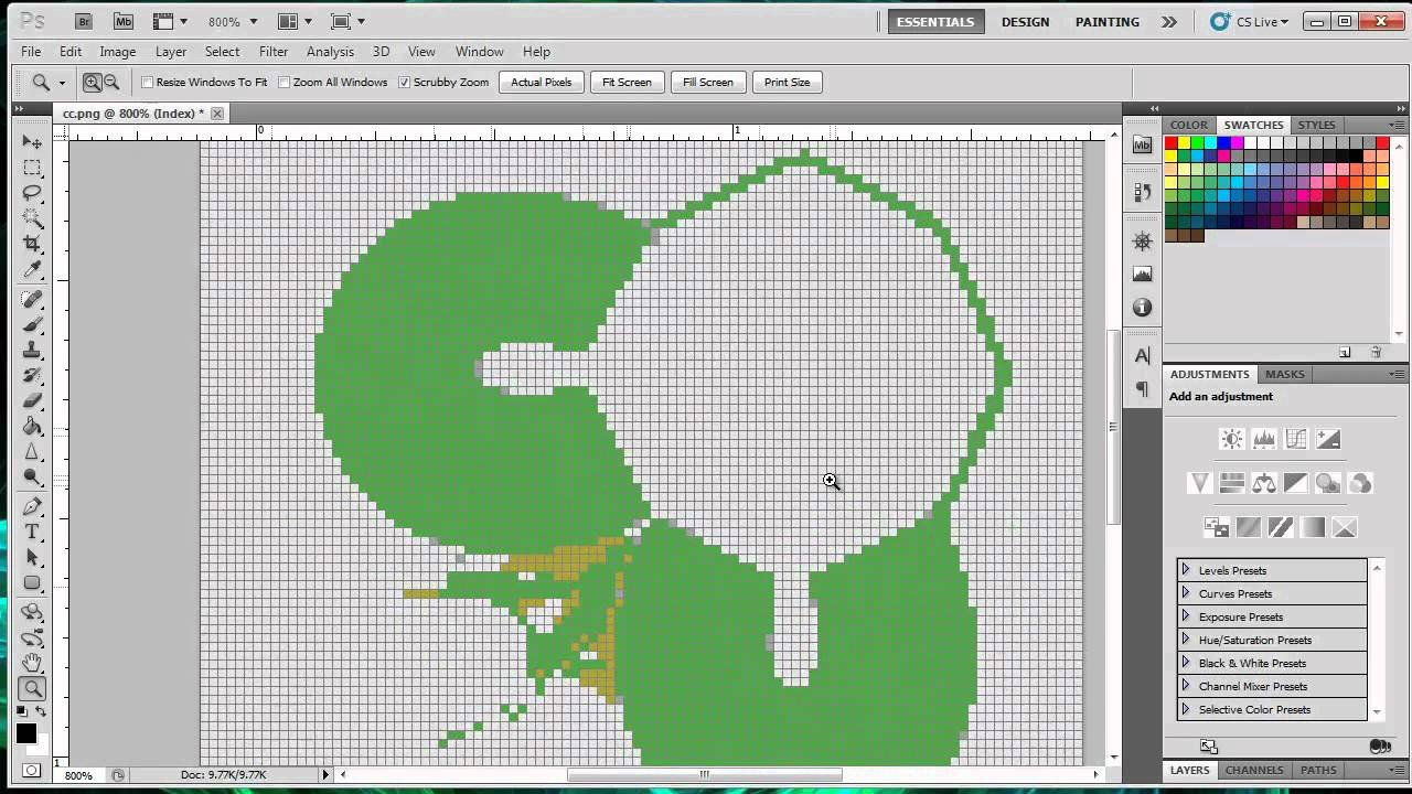 How to make a Pixel Art Template for Minecraft