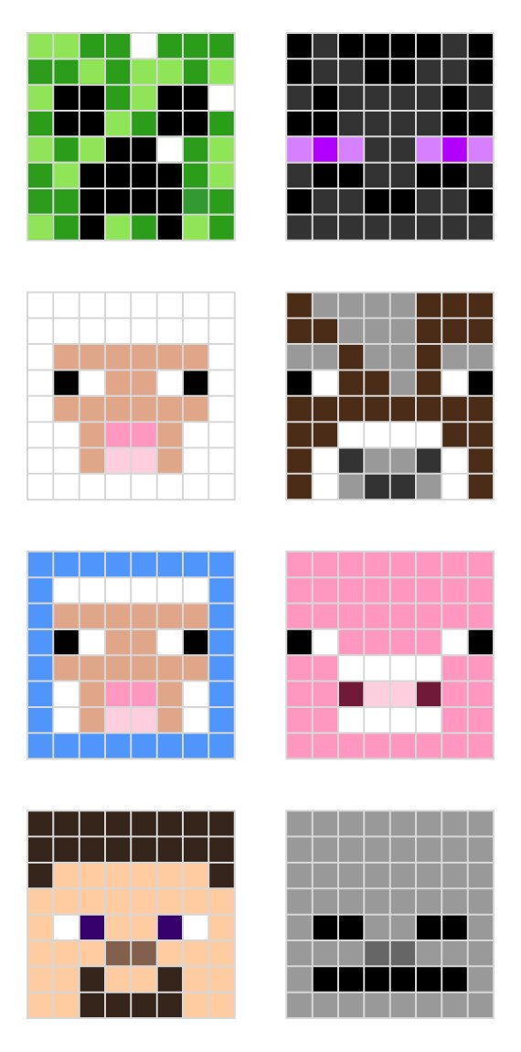 Minecraft Pixel Art Templates Minecraft Pixel Art Templates — All for the Boys