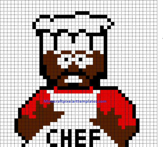 Minecraft Pixel Art Templates Minecraft Pixel Art Templates Chef south Park