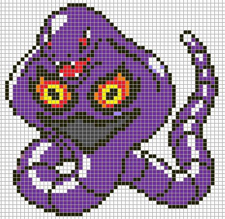 Minecraft Pokemon Pixel Art Grid Arbok by Hama Girl On Deviantart