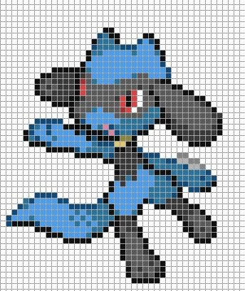 Pixel art Pixel art grid and Pokemon on Pinterest