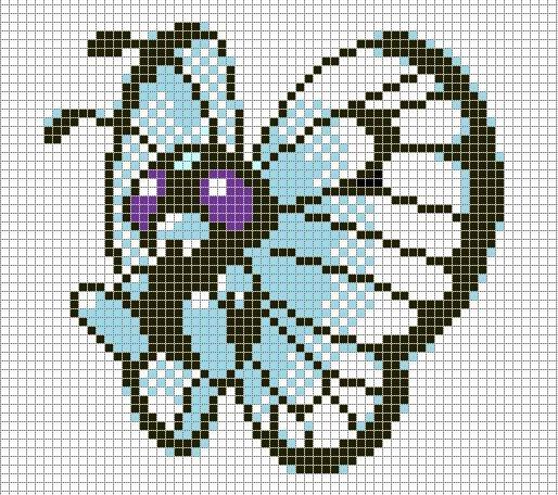 Minecraft Pokemon Pixel Art Grid Pokemon Pixel Art butterfree with Grid